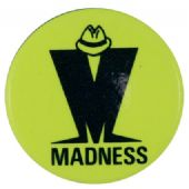 Madness - 'M Logo Yellow' Button Badge
